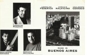 06 cd Made in Buenos Aires Adalberto Cevasco